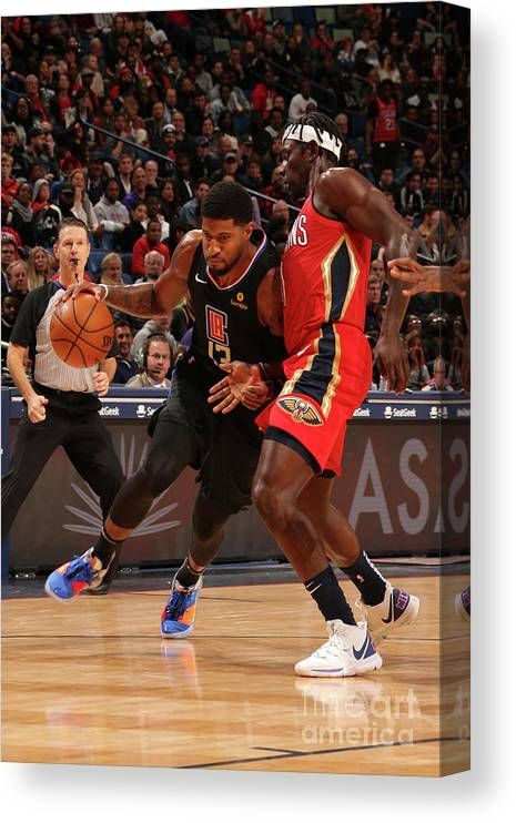 Smoothie King Center Canvas Print featuring the photograph Paul George by Layne Murdoch Jr.