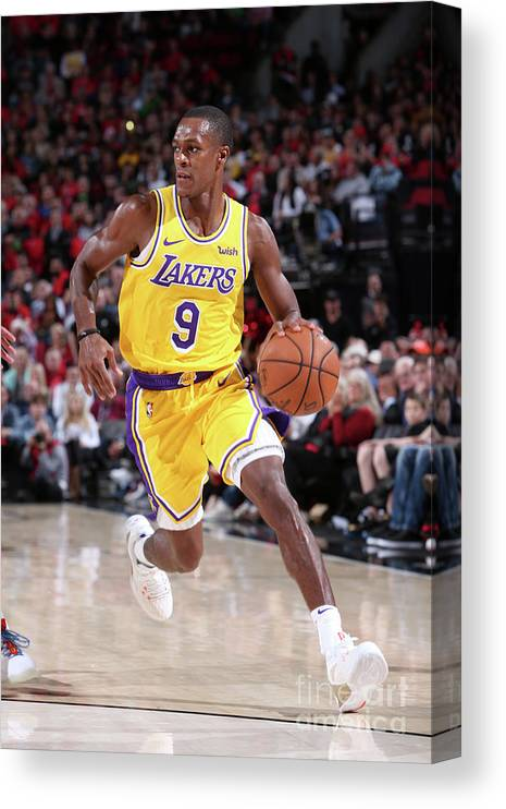 Nba Pro Basketball Canvas Print featuring the photograph Rajon Rondo by Sam Forencich