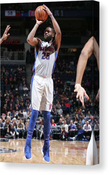 Nba Pro Basketball Canvas Print featuring the photograph Reggie Bullock by David Sherman