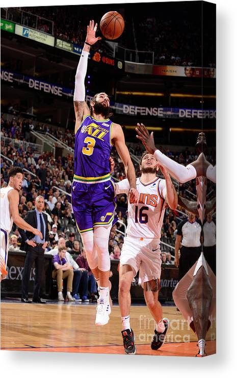 Nba Pro Basketball Canvas Print featuring the photograph Ricky Rubio by Barry Gossage
