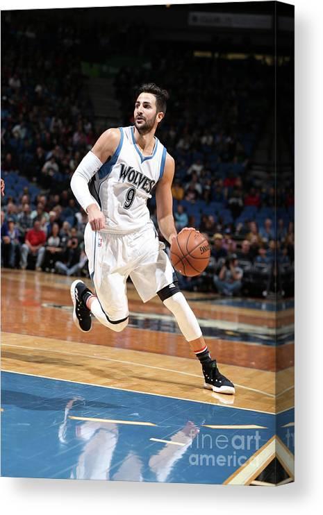 Nba Pro Basketball Canvas Print featuring the photograph Ricky Rubio by David Sherman