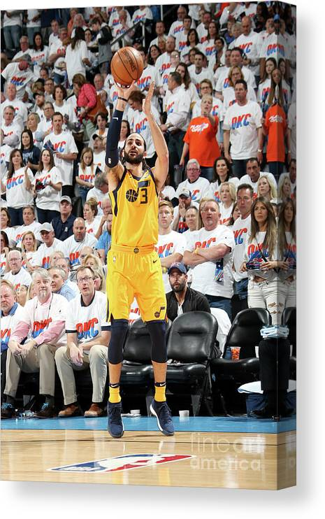 Playoffs Canvas Print featuring the photograph Ricky Rubio by Layne Murdoch