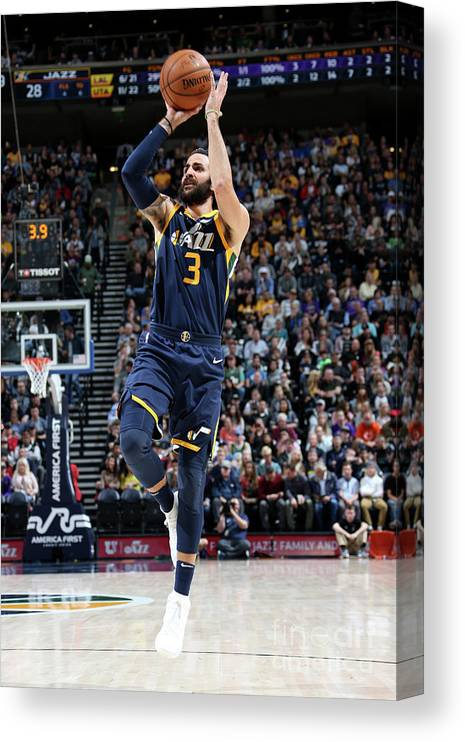 Nba Pro Basketball Canvas Print featuring the photograph Ricky Rubio by Melissa Majchrzak