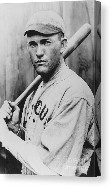 St. Louis Cardinals Canvas Print featuring the photograph Rogers Hornsby by National Baseball Hall Of Fame Library