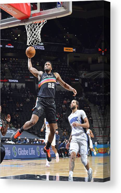 Nba Pro Basketball Canvas Print featuring the photograph Rudy Gay by Logan Riely