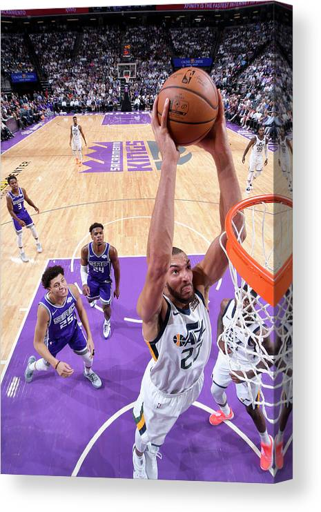 Nba Pro Basketball Canvas Print featuring the photograph Rudy Gobert by Rocky Widner