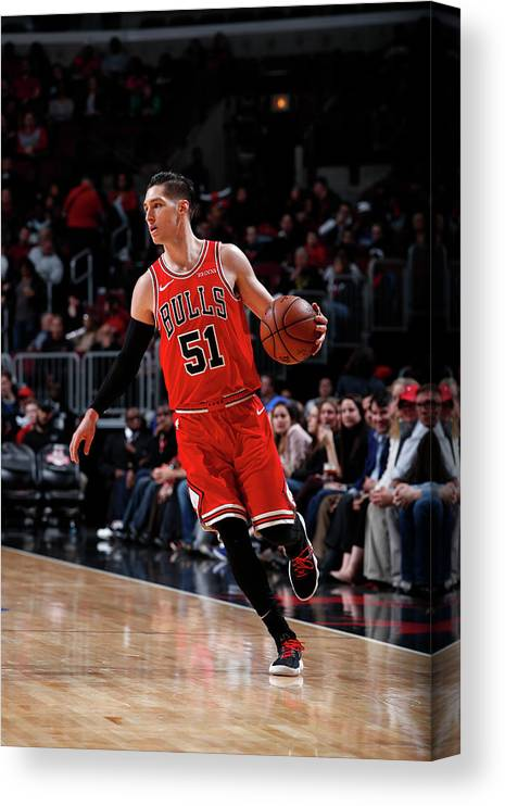 Nba Pro Basketball Canvas Print featuring the photograph Ryan Arcidiacono by Jeff Haynes