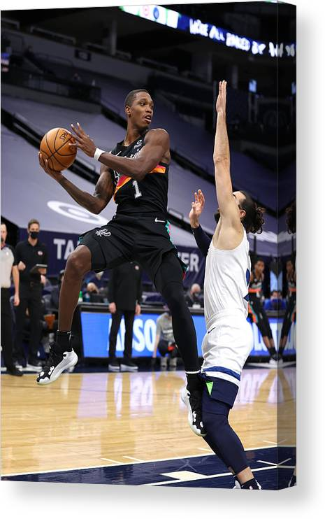 Nba Pro Basketball Canvas Print featuring the photograph San Antonio Spurs v Minnesota Timberwolves by Jordan Johnson