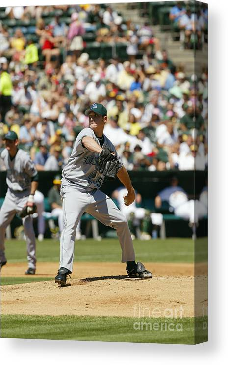 American League Baseball Canvas Print featuring the photograph Scott Kazmir by Don Smith