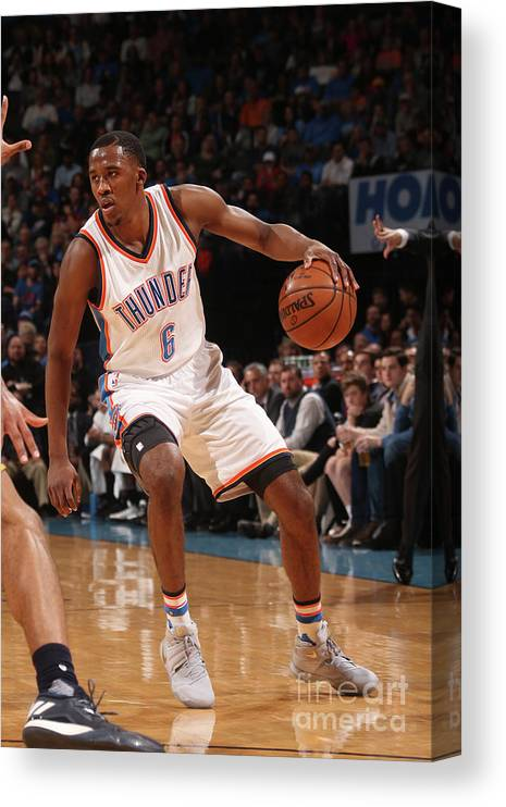 Nba Pro Basketball Canvas Print featuring the photograph Semaj Christon by Layne Murdoch