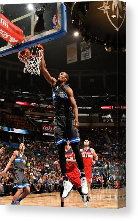 Nba Pro Basketball Canvas Print featuring the photograph Serge Ibaka by Fernando Medina