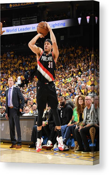 Playoffs Canvas Print featuring the photograph Seth Curry by Andrew D. Bernstein