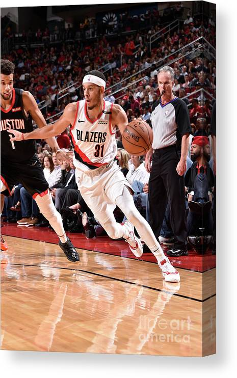 Nba Pro Basketball Canvas Print featuring the photograph Seth Curry by Bill Baptist