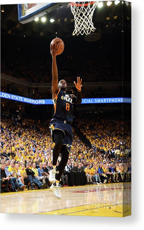 Playoffs Canvas Print featuring the photograph Shelvin Mack by Andrew D. Bernstein