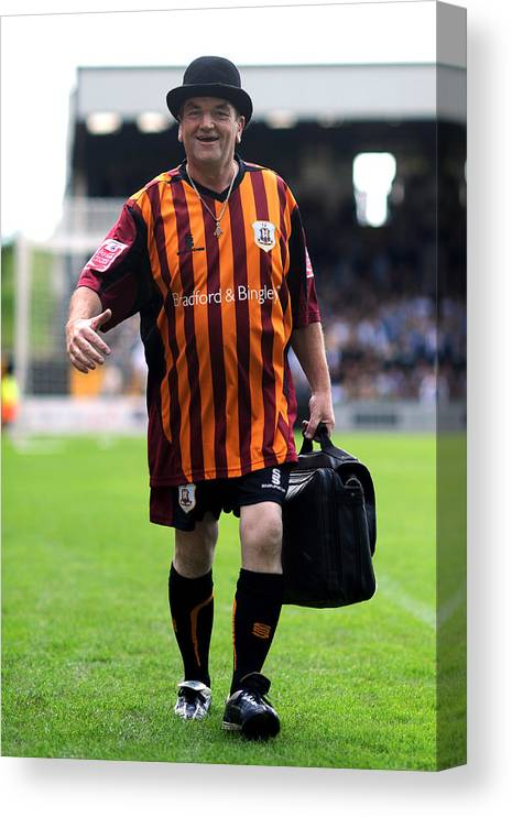 People Canvas Print featuring the photograph Soccer - Coca-Cola Football League Two - Port Vale v Bradford City - Vale Park by Neal Simpson - EMPICS