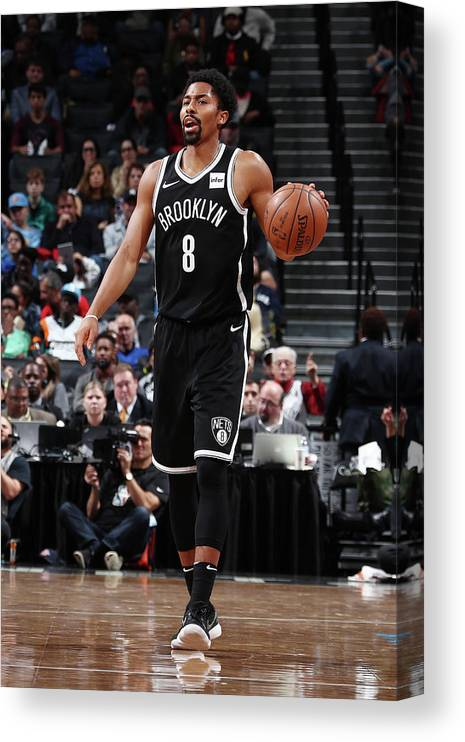 Sport Canvas Print featuring the photograph Spencer Dinwiddie by Nathaniel S. Butler