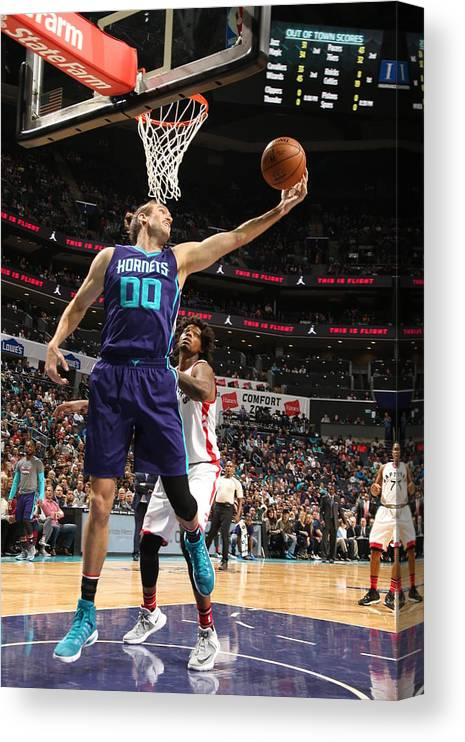 Nba Pro Basketball Canvas Print featuring the photograph Spencer Hawes by Kent Smith