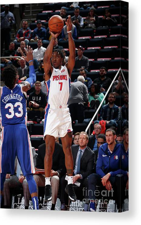 Nba Pro Basketball Canvas Print featuring the photograph Stanley Johnson by Brian Sevald