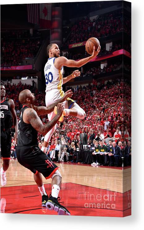 Playoffs Canvas Print featuring the photograph Stephen Curry by Bill Baptist
