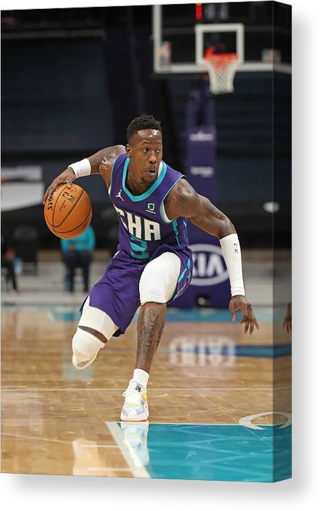 Nba Pro Basketball Canvas Print featuring the photograph Terry Rozier by Brock Williams-Smith