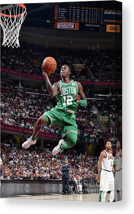 Nba Pro Basketball Canvas Print featuring the photograph Terry Rozier by David Liam Kyle