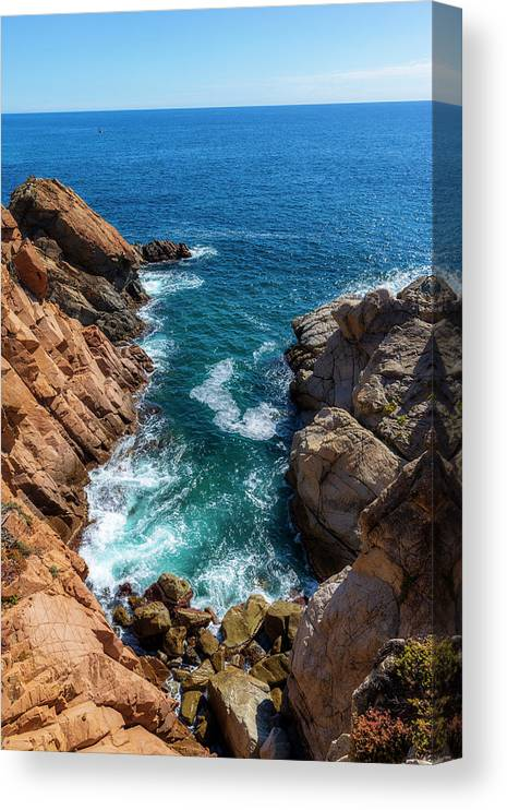 Camino De Ronda Canvas Print featuring the photograph The Cami De Ronda By Lloret De Mar by Vicen Photography