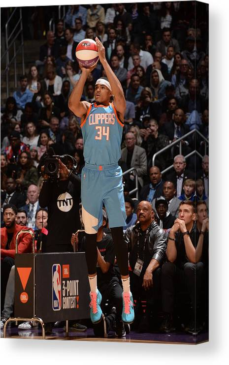 Event Canvas Print featuring the photograph Tobias Harris by Andrew D. Bernstein