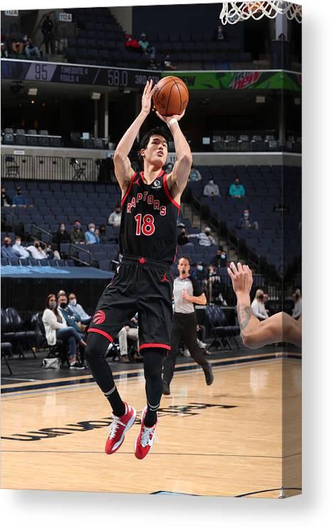 Nba Pro Basketball Canvas Print featuring the photograph Toronto Raptors v Memphis Grizzlies by Joe Murphy