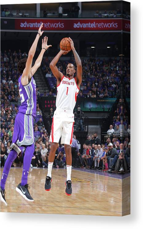 Nba Pro Basketball Canvas Print featuring the photograph Trevor Ariza by Rocky Widner
