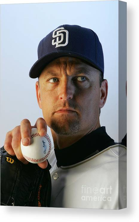 Media Day Canvas Print featuring the photograph Trevor Hoffman by Jeff Gross