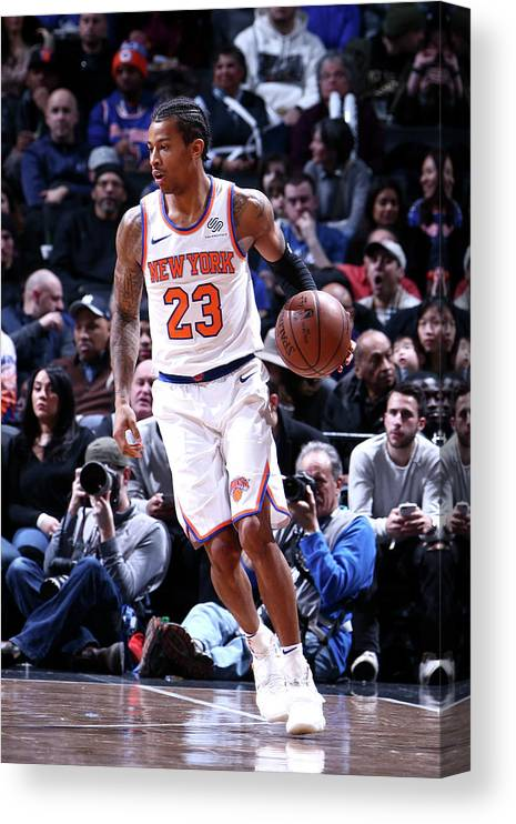 Nba Pro Basketball Canvas Print featuring the photograph Trey Burke by Nathaniel S. Butler