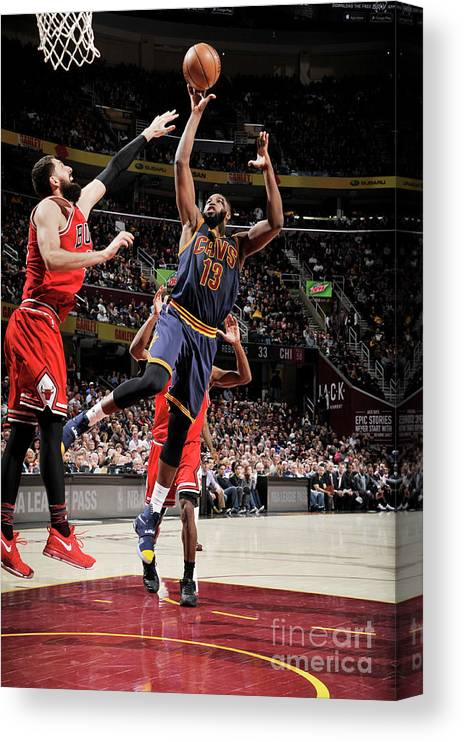 Nba Pro Basketball Canvas Print featuring the photograph Tristan Thompson by David Liam Kyle