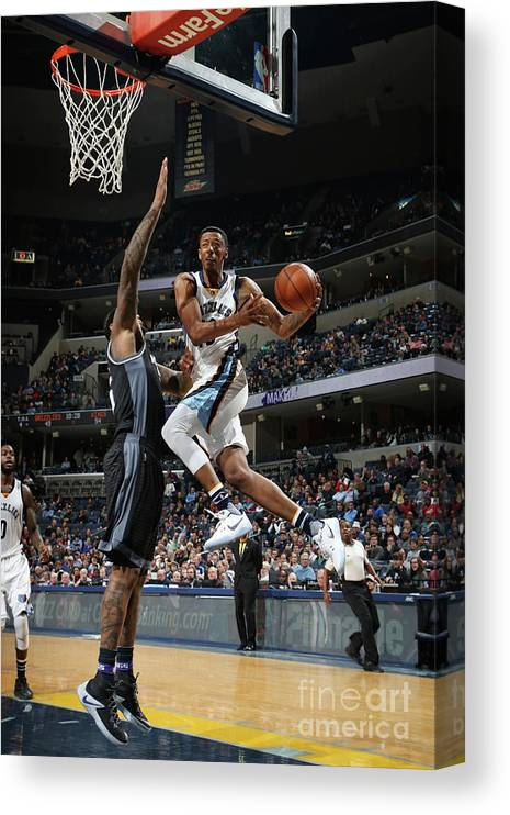 Nba Pro Basketball Canvas Print featuring the photograph Troy Williams by Joe Murphy