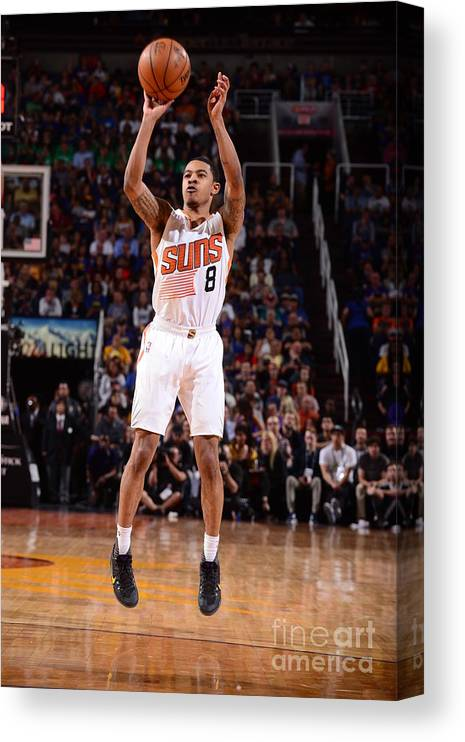 Nba Pro Basketball Canvas Print featuring the photograph Tyler Ulis by Barry Gossage