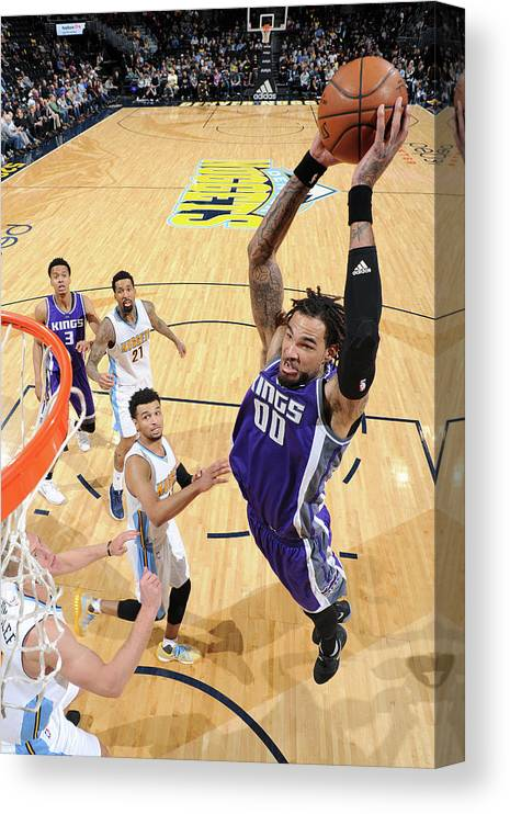 Nba Pro Basketball Canvas Print featuring the photograph Willie Cauley-stein by Garrett Ellwood