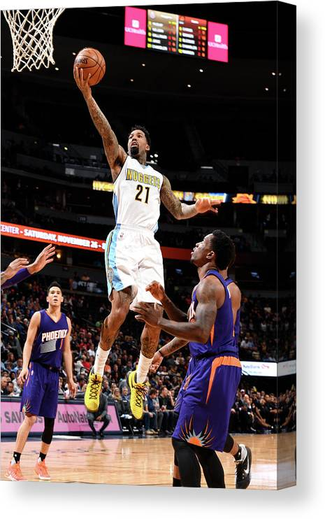 Nba Pro Basketball Canvas Print featuring the photograph Wilson Chandler by Garrett Ellwood