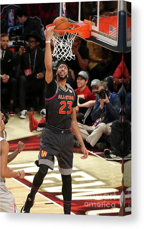 Event Canvas Print featuring the photograph Anthony Davis by Layne Murdoch