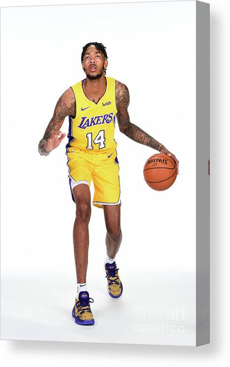 Media Day Canvas Print featuring the photograph Brandon Ingram by Andrew D. Bernstein