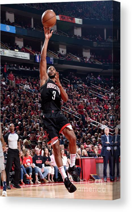 Playoffs Canvas Print featuring the photograph Chris Paul by Bill Baptist