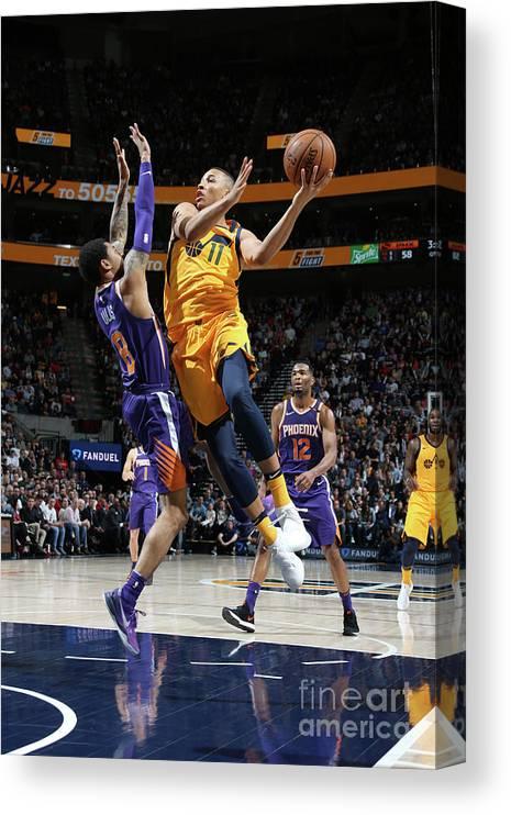 Nba Pro Basketball Canvas Print featuring the photograph Dante Exum by Melissa Majchrzak