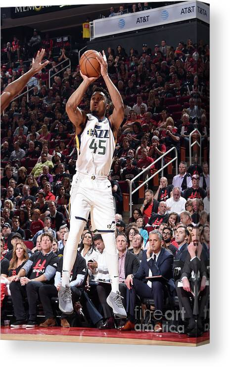 Playoffs Canvas Print featuring the photograph Donovan Mitchell by Andrew D. Bernstein