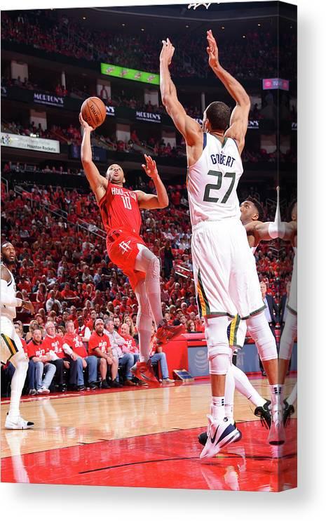 Playoffs Canvas Print featuring the photograph Eric Gordon by Bill Baptist