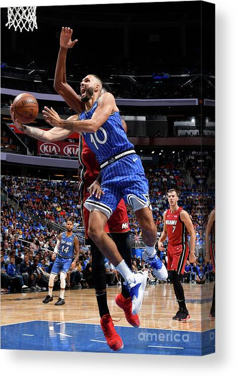 Nba Pro Basketball Canvas Print featuring the photograph Evan Fournier by Fernando Medina