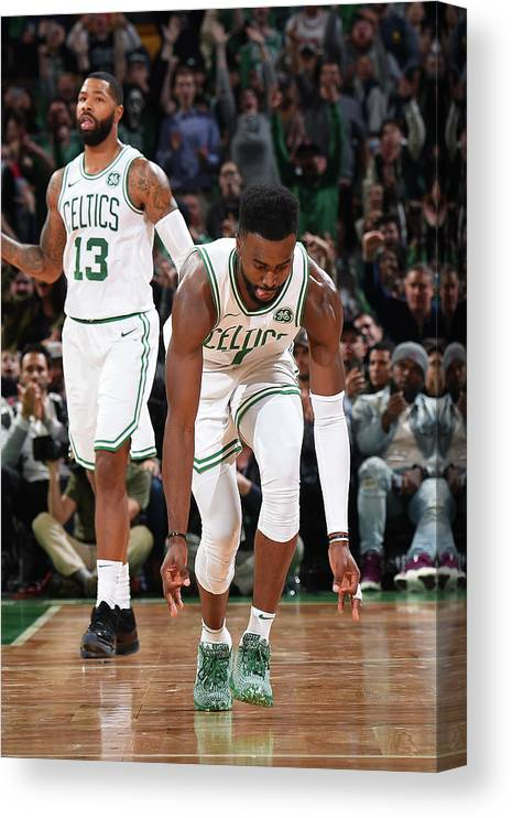 Nba Pro Basketball Canvas Print featuring the photograph Jaylen Brown by Brian Babineau