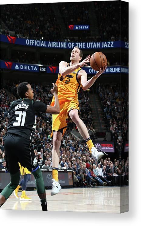 Nba Pro Basketball Canvas Print featuring the photograph Joe Ingles by Melissa Majchrzak