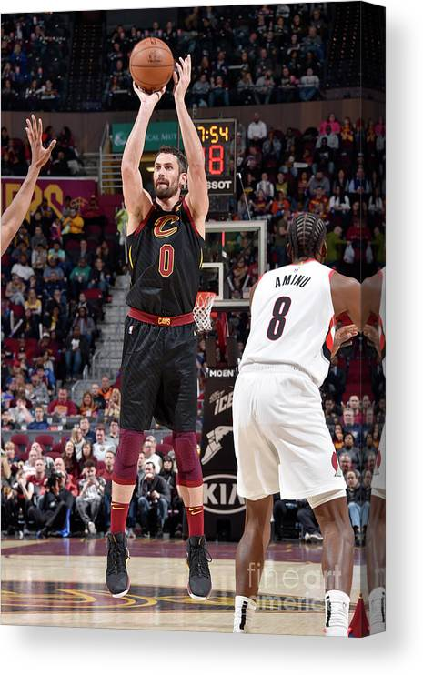 Nba Pro Basketball Canvas Print featuring the photograph Kevin Love by David Liam Kyle