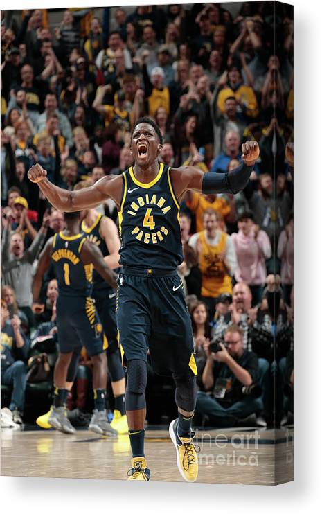Nba Pro Basketball Canvas Print featuring the photograph Victor Oladipo by Ron Hoskins