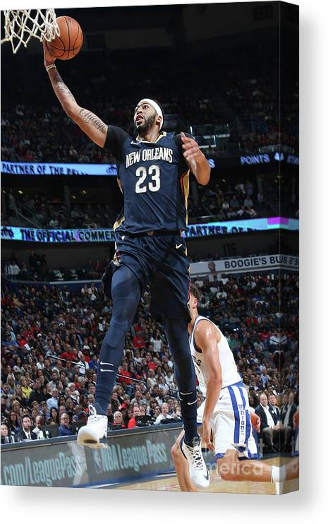 Smoothie King Center Canvas Print featuring the photograph Anthony Davis by Layne Murdoch