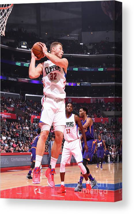 Nba Pro Basketball Canvas Print featuring the photograph Blake Griffin by Juan Ocampo