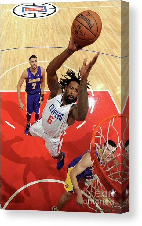 Nba Pro Basketball Canvas Print featuring the photograph Deandre Jordan by Andrew D. Bernstein